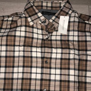 Brand New - Banana Republic Soft Plaid Dress Shirt